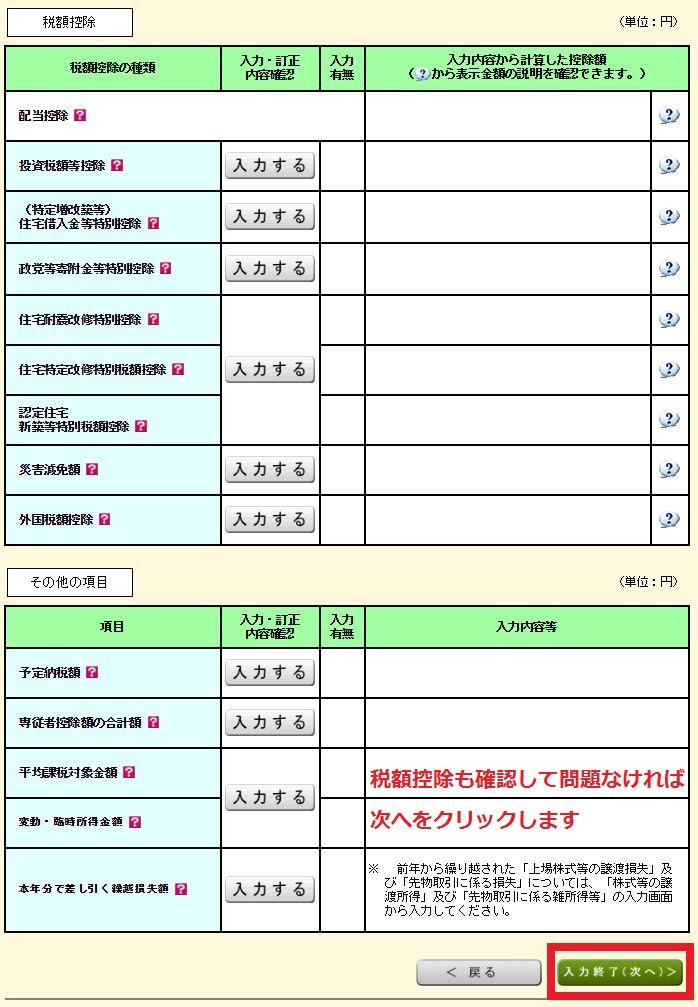 海外FXの税金・確定申告 国税庁ホームページの確定申告書の作成方法 税金・税額控除