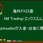 【海外FX】「mybitwallet」が入金・出金に便利!