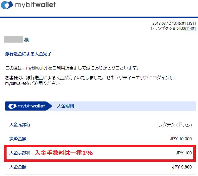 海外FX mybitwallet 銀行口座振込み入金4