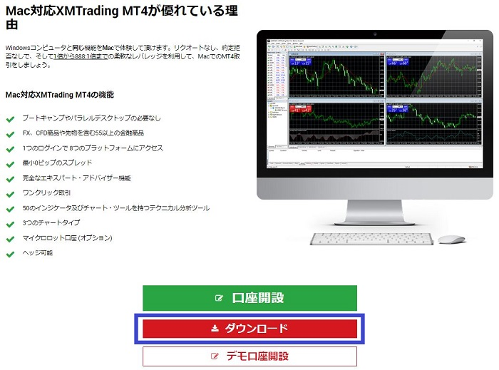 XM MAC用 MT4